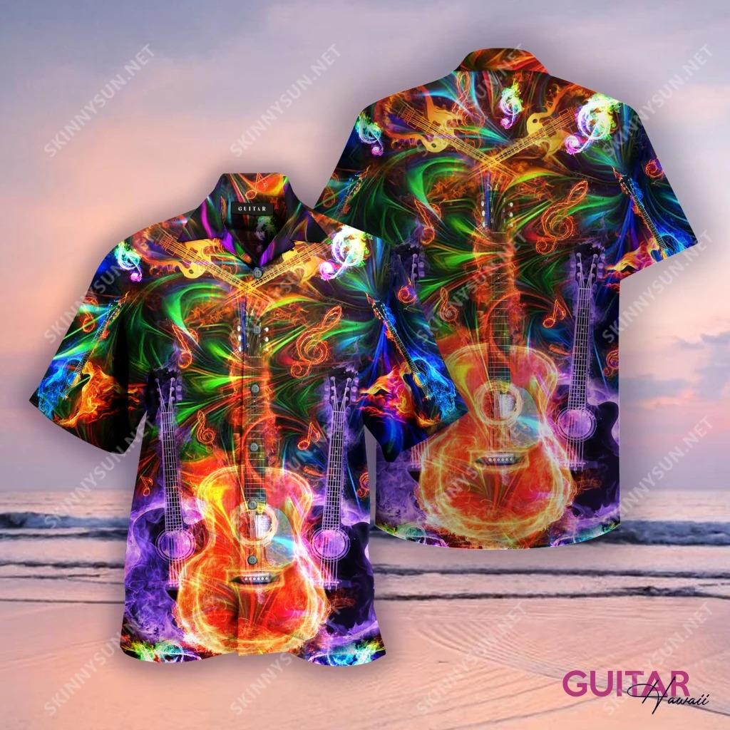 Amazing guitar unisex hawaiian shirt - Hothot