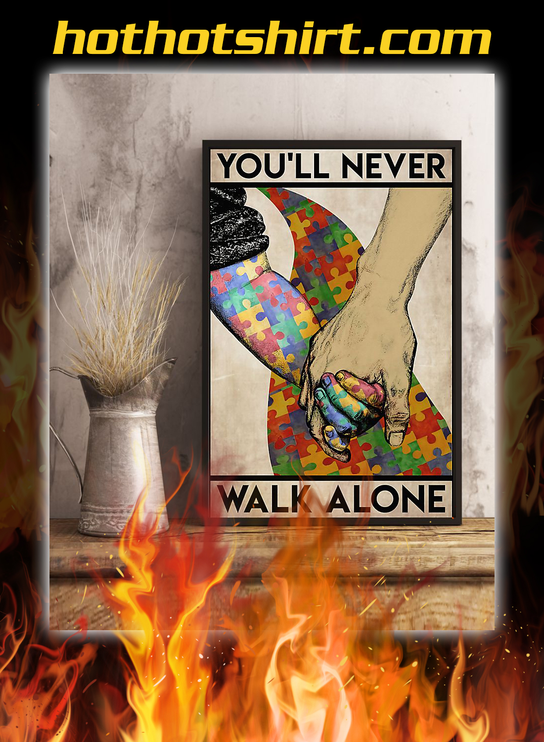Autism you'll never walk alone poster 3