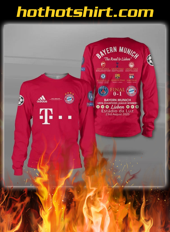 Bayern munich the road to lisbon all over printed sweatshirt
