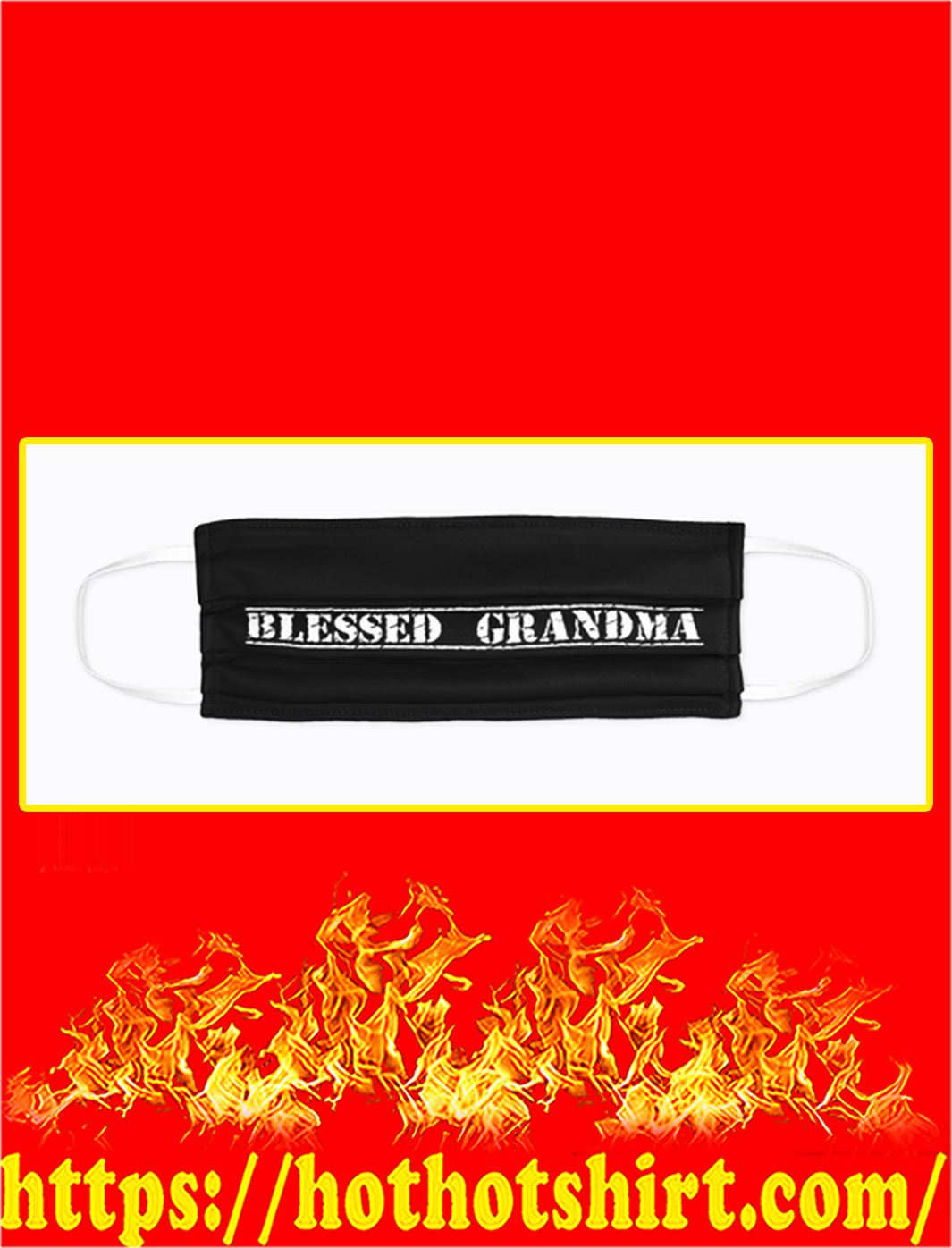 Blessed grandma face mask- pic 1