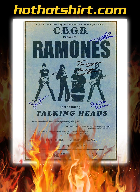 CBGB presents ramones introducing talking heads poster 1