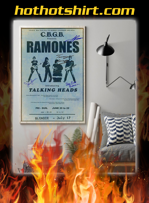 CBGB presents ramones introducing talking heads poster 2