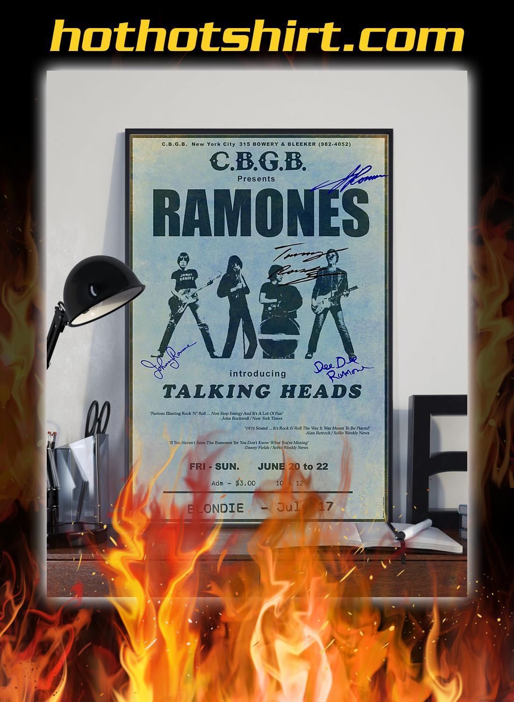 CBGB presents ramones introducing talking heads poster 3