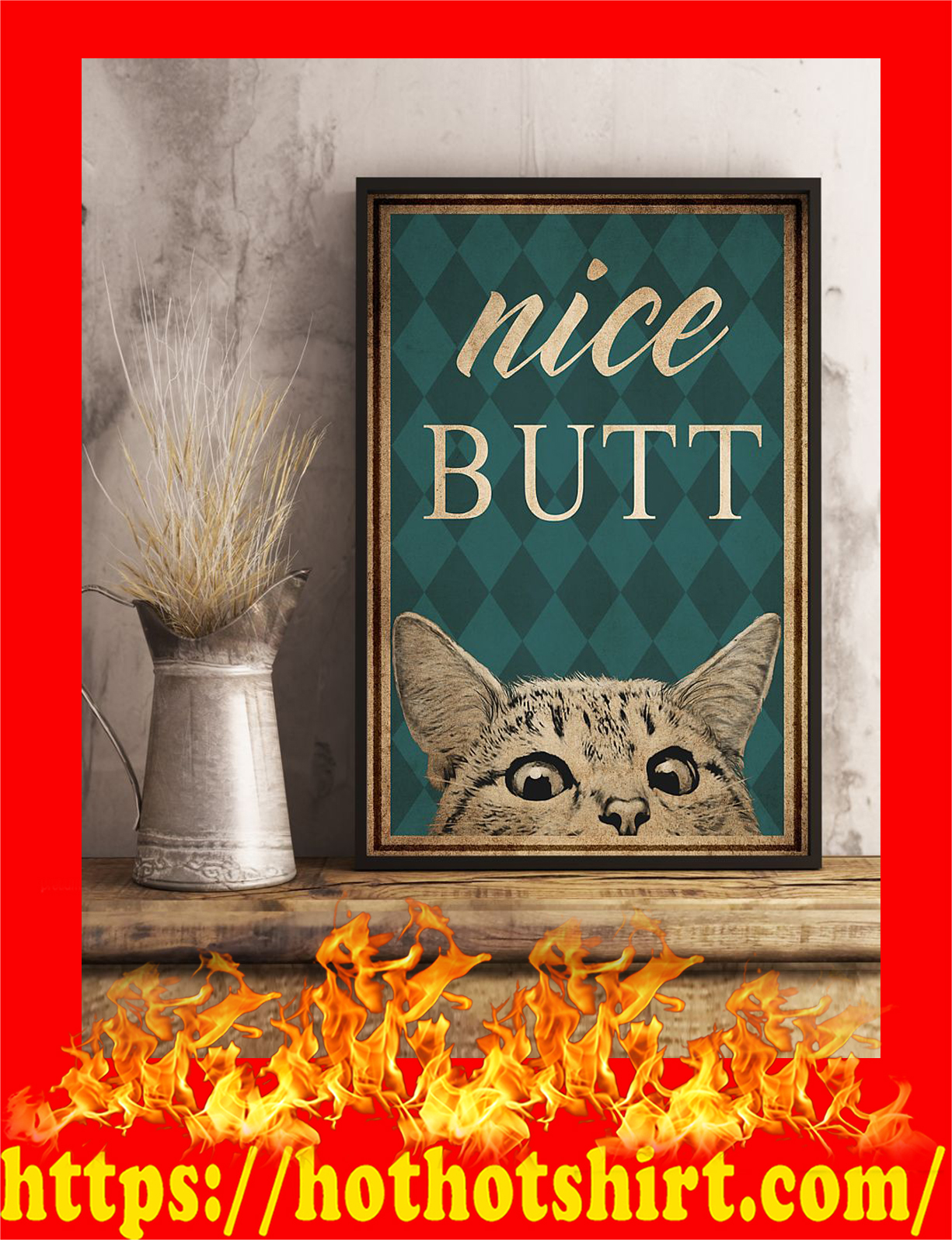 Cat nice butt poster - pic 2