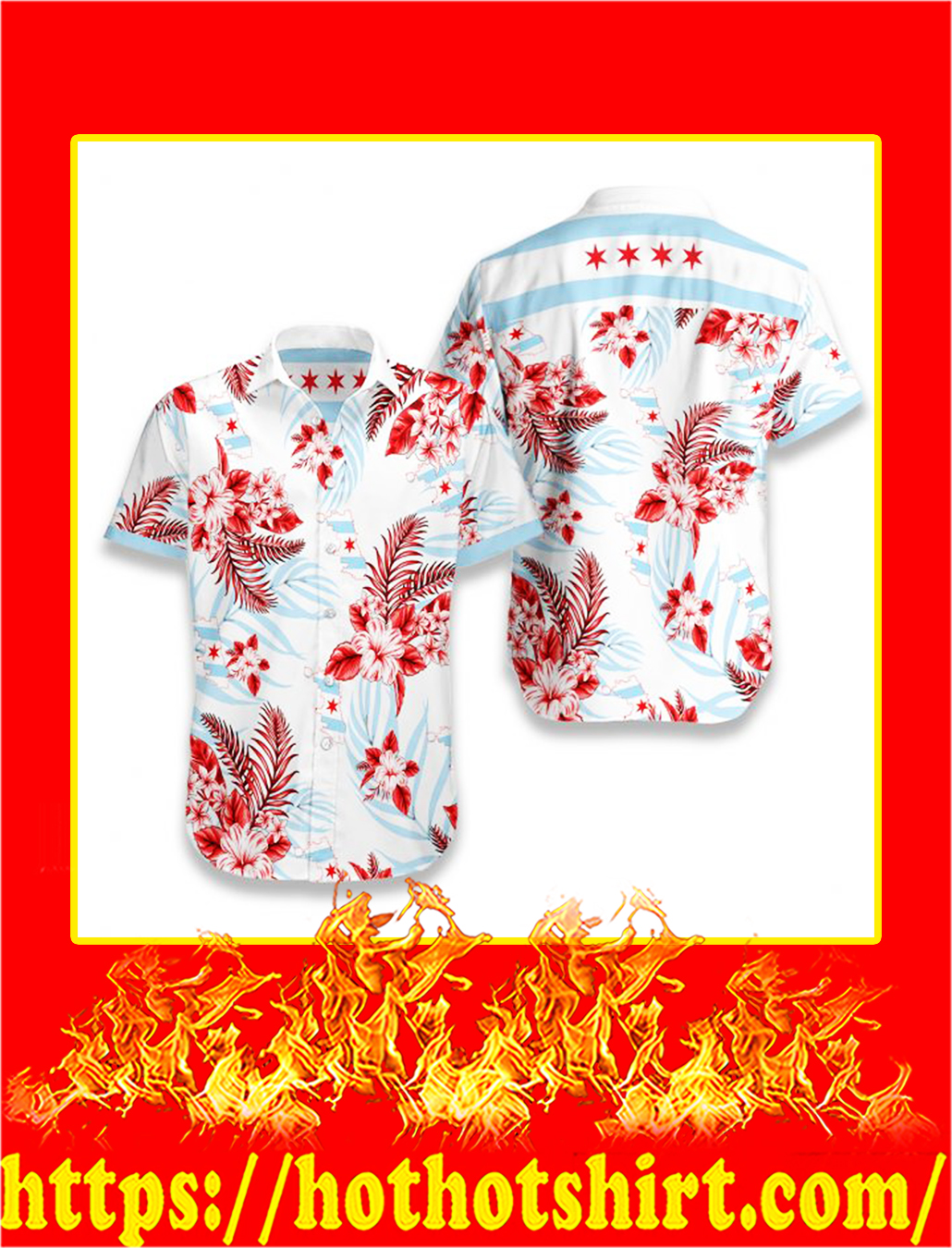 Chicago proud hawaiian shirt - S