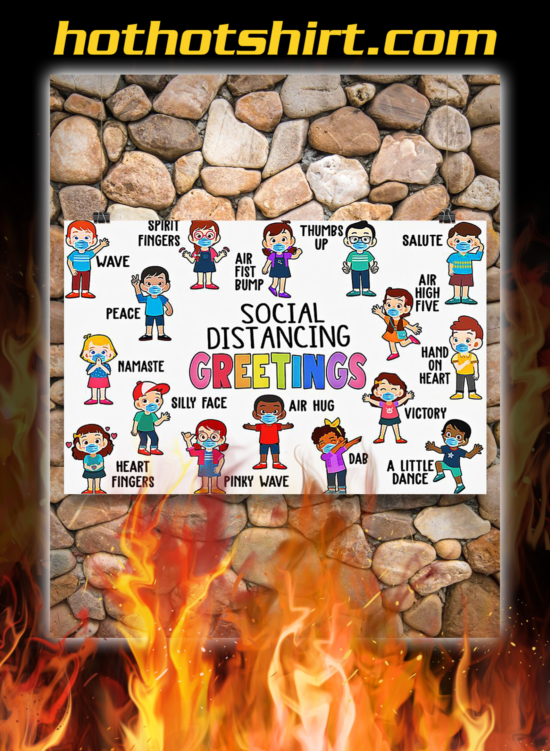 Classroom Social Distancing Greetings Poster 3