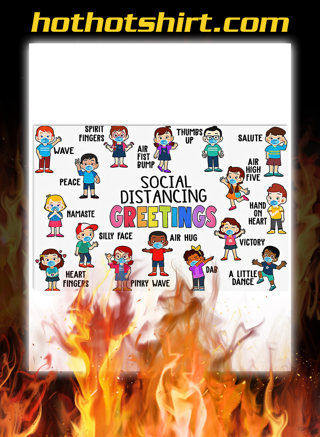 Classroom Social Distancing Greetings Poster