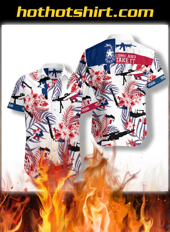 Come and take it texas gun lover hawaiian shirt - detail