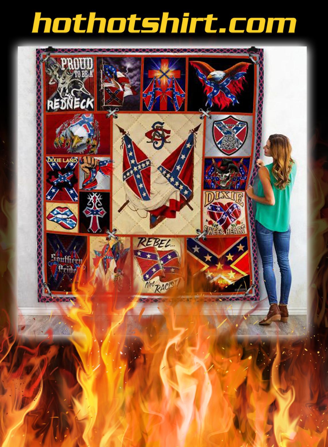 Confederate states of america quilt blanket- queen