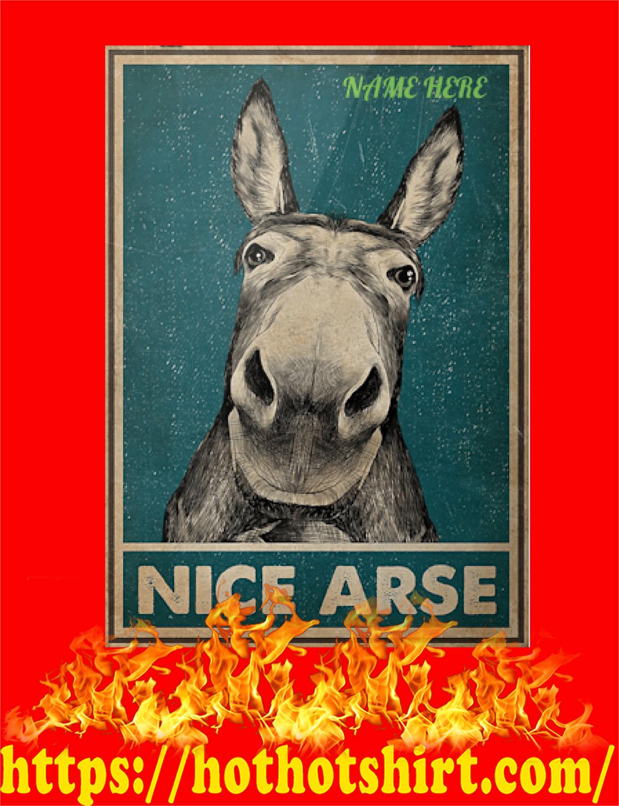 Custom Name Donkey Nice Arse Poster - Detail