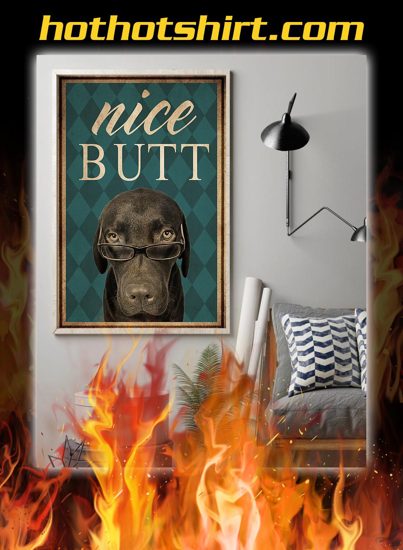 Dog labrador nice butt poster 1