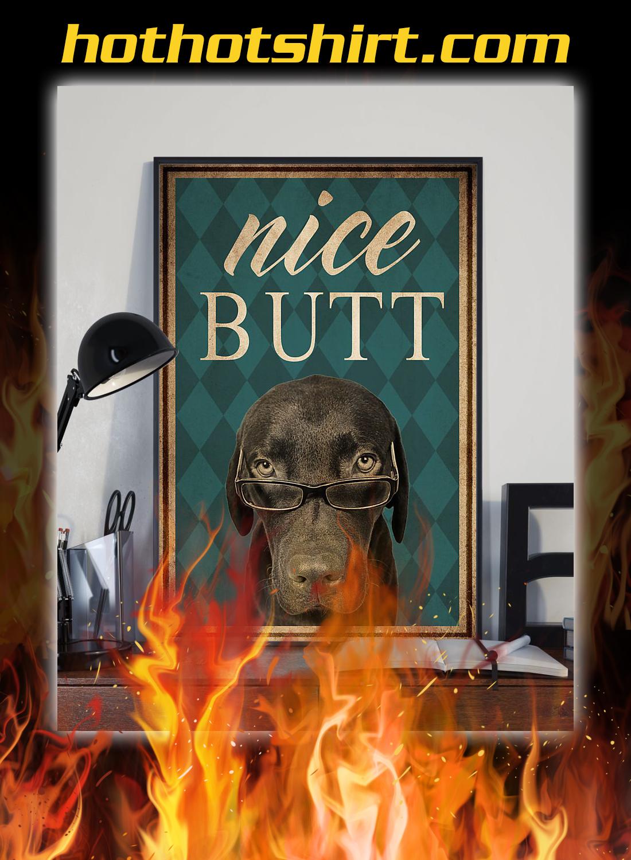 Dog labrador nice butt poster 2