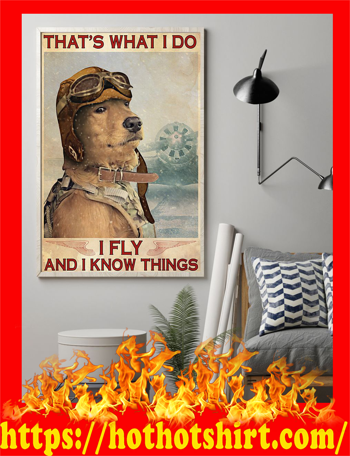 Dog that's what i do i fly and i know things poster - Pic 2