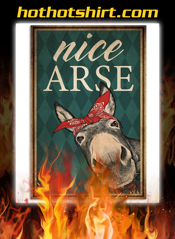 Donkey bandana nice arse poster 1