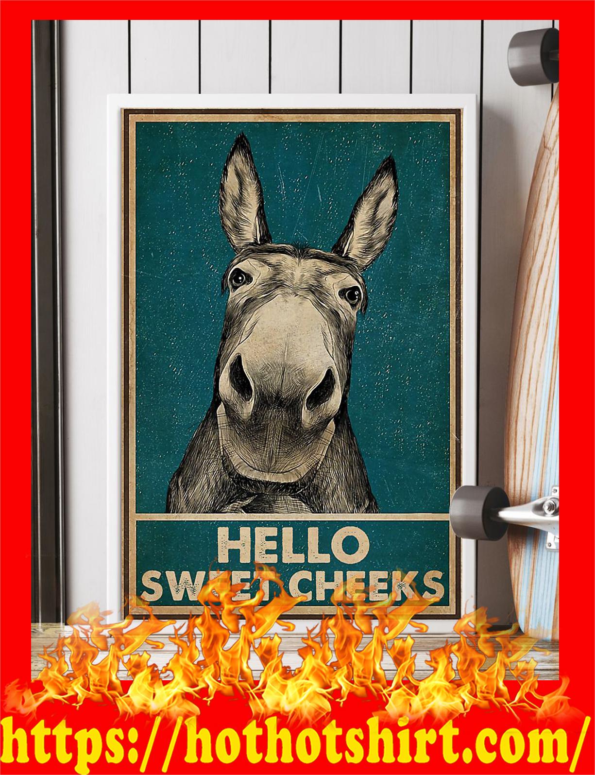 Donkey hello sweet cheeks poster - Pic 1
