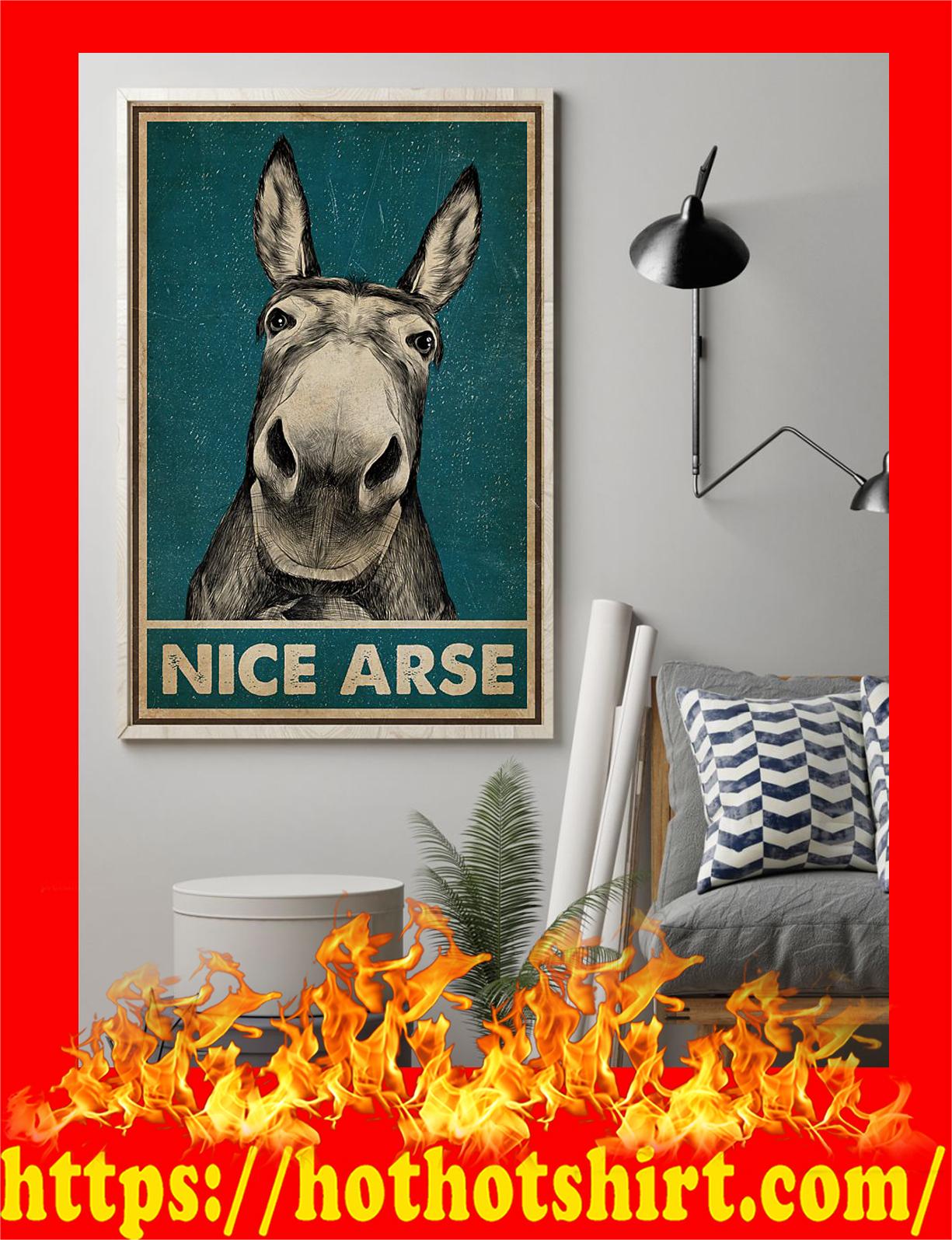 Donkey nice arse poster - 1