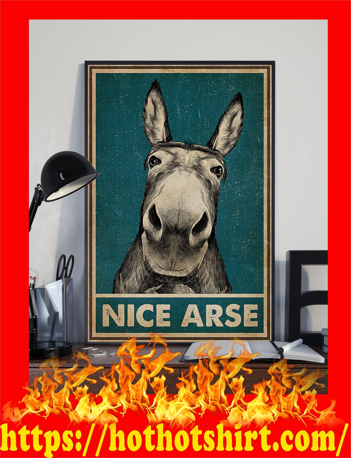 Donkey nice arse poster - detail