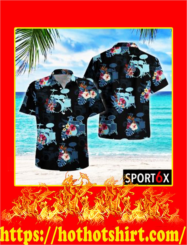 Drum tropical hawaiian shirt- pic 1