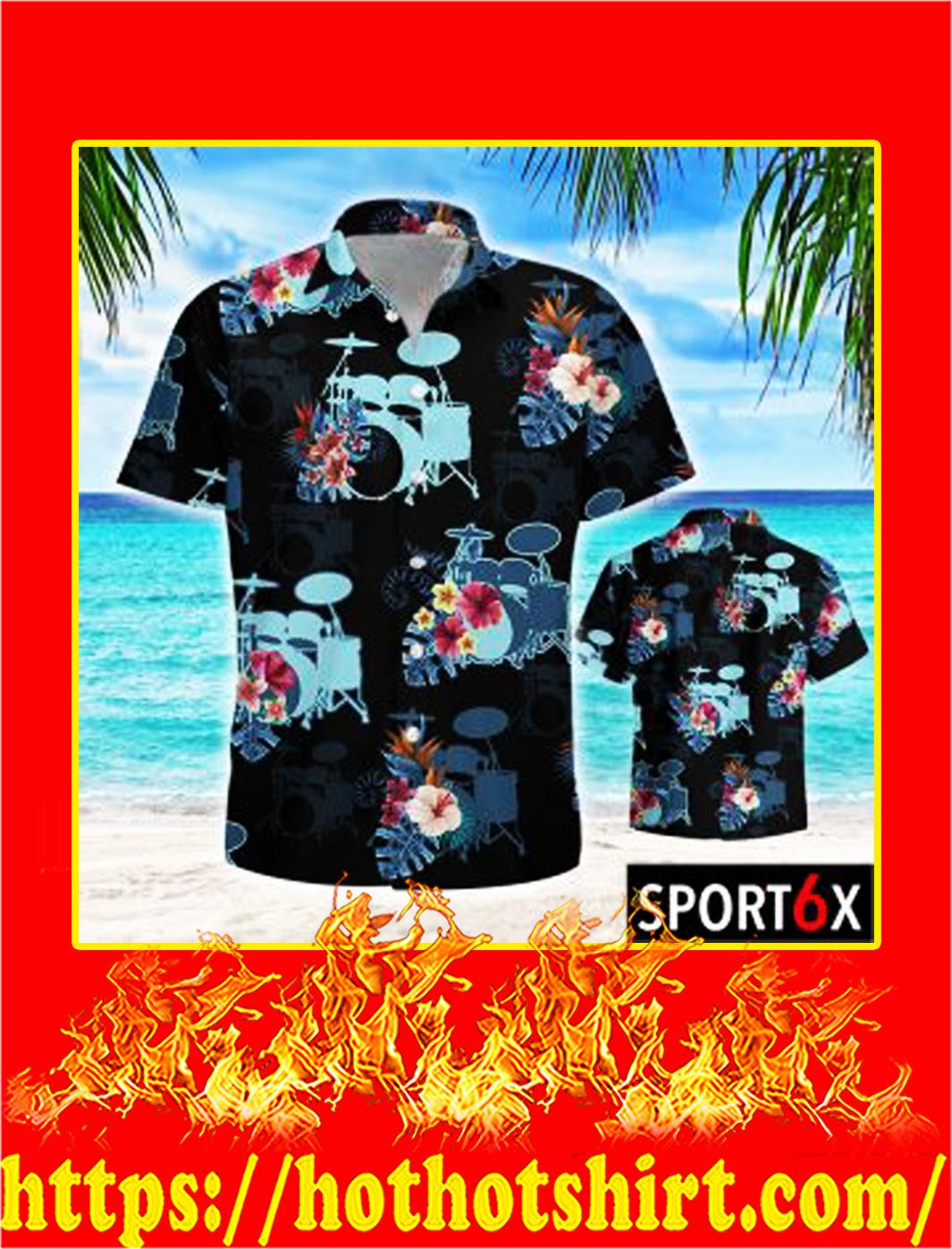 Drum tropical hawaiian shirt- pic 2