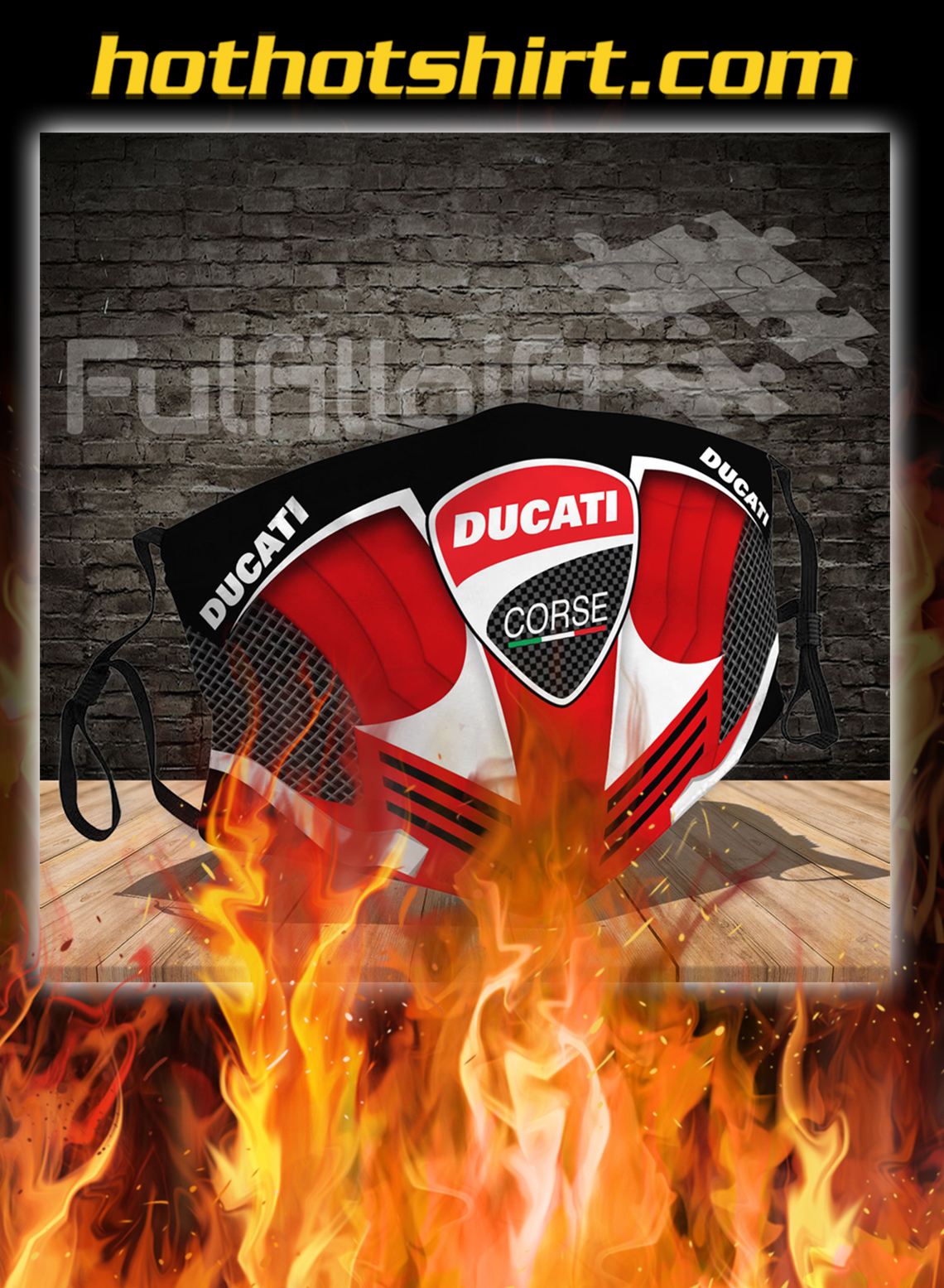 Ducati 3d face mask- pic 1