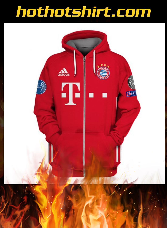 FC Bayern München champions 2020 3d hoodie, shirt 3