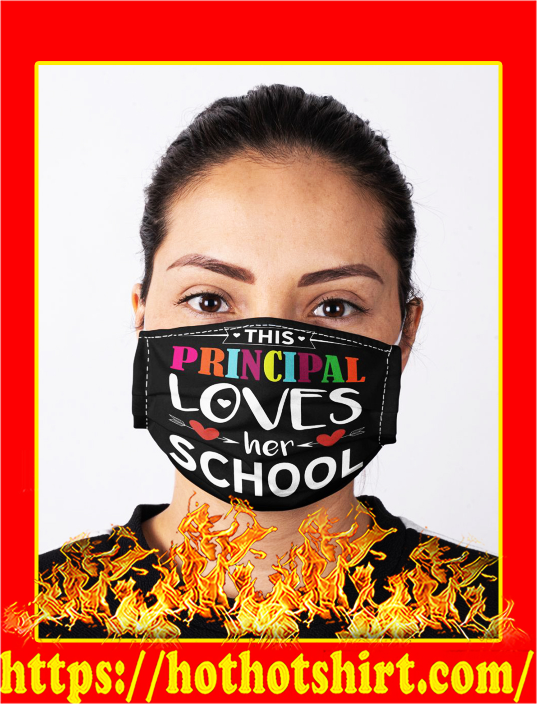 Face mask this principal loves her school- pic 1