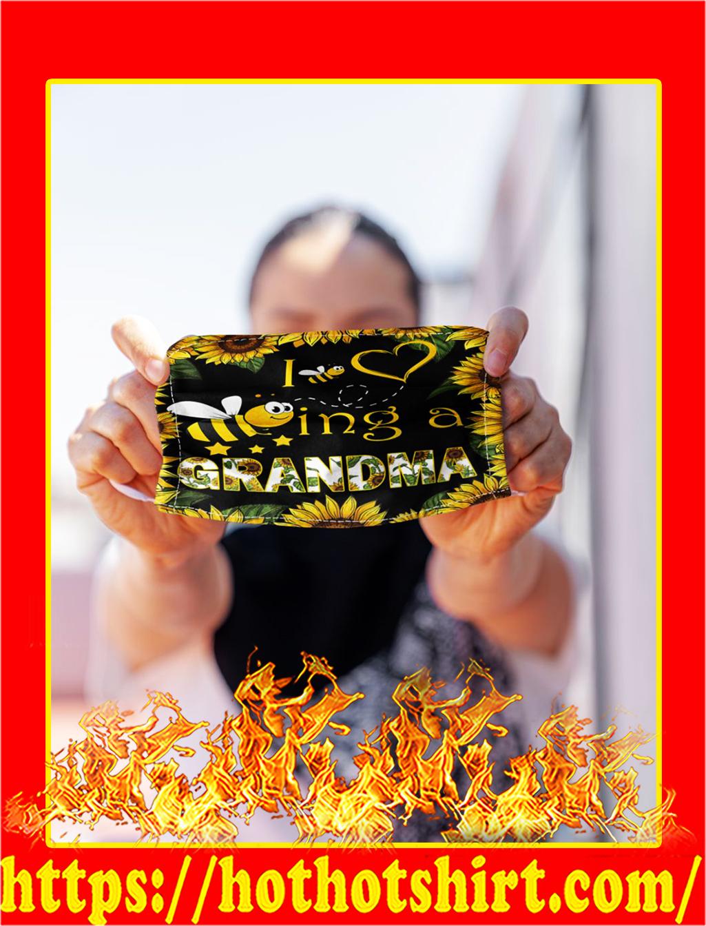 Grandma bee sunflower face mask- pic 1
