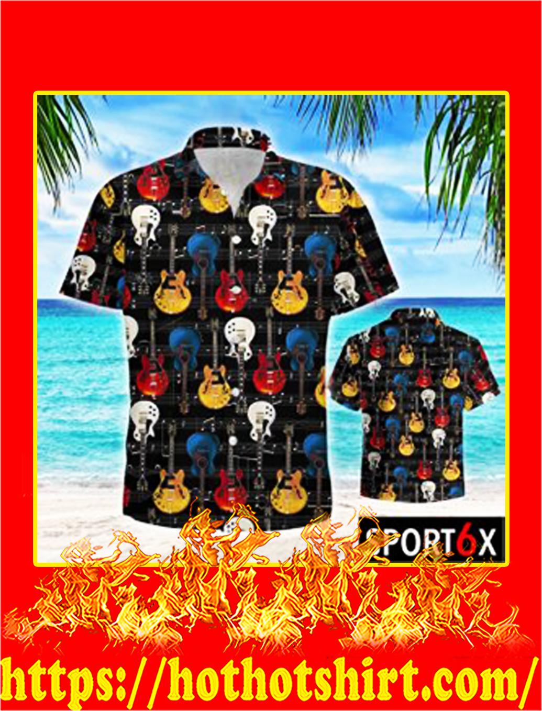 Guitar retro hawaiian shirt- pic 2