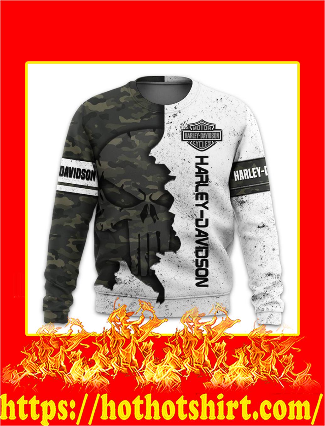 Harley davidson punisher skull camo 3d all over printed sweatshirt