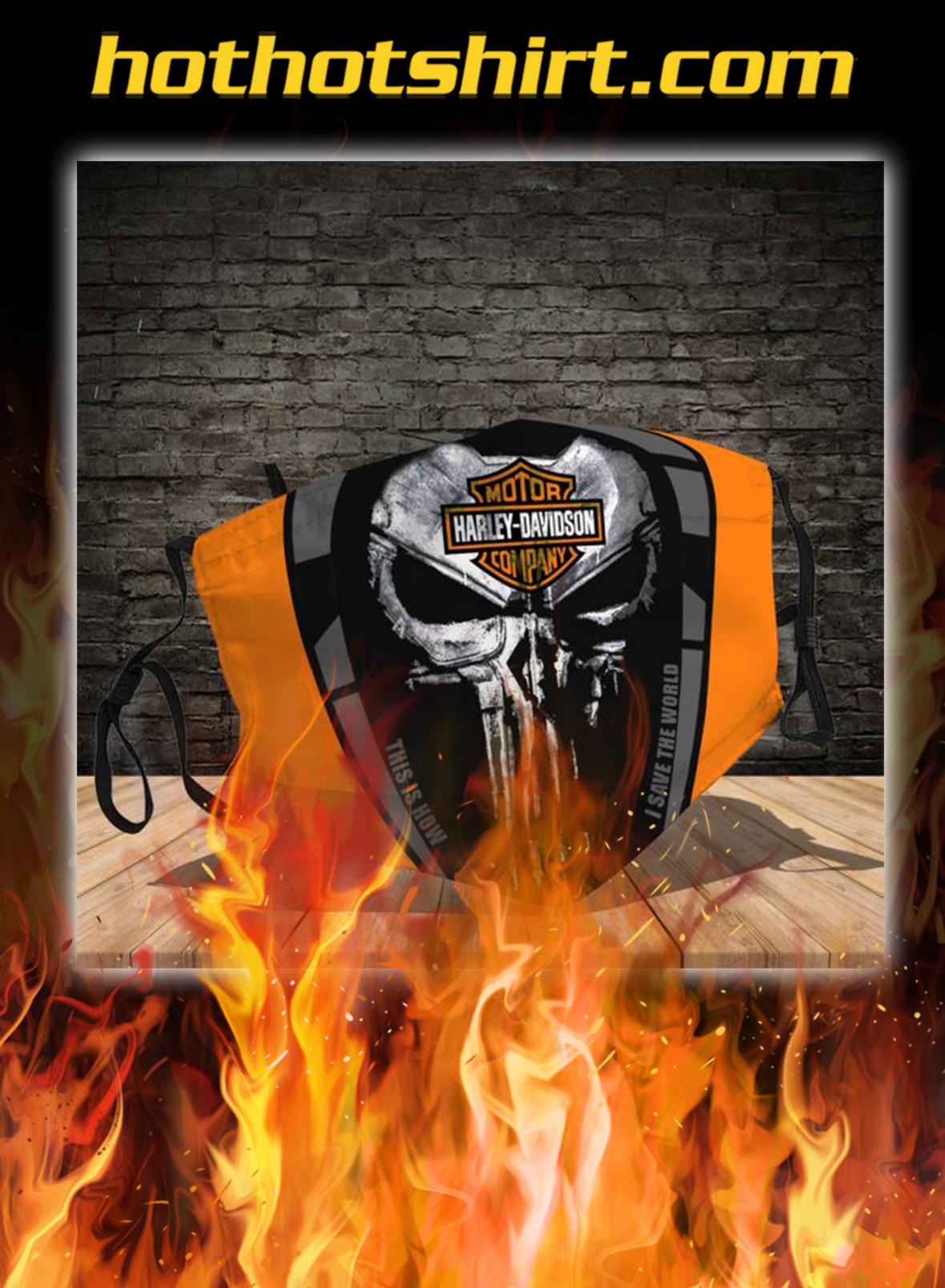 Harley davidson punisher skull face mask - pic 1