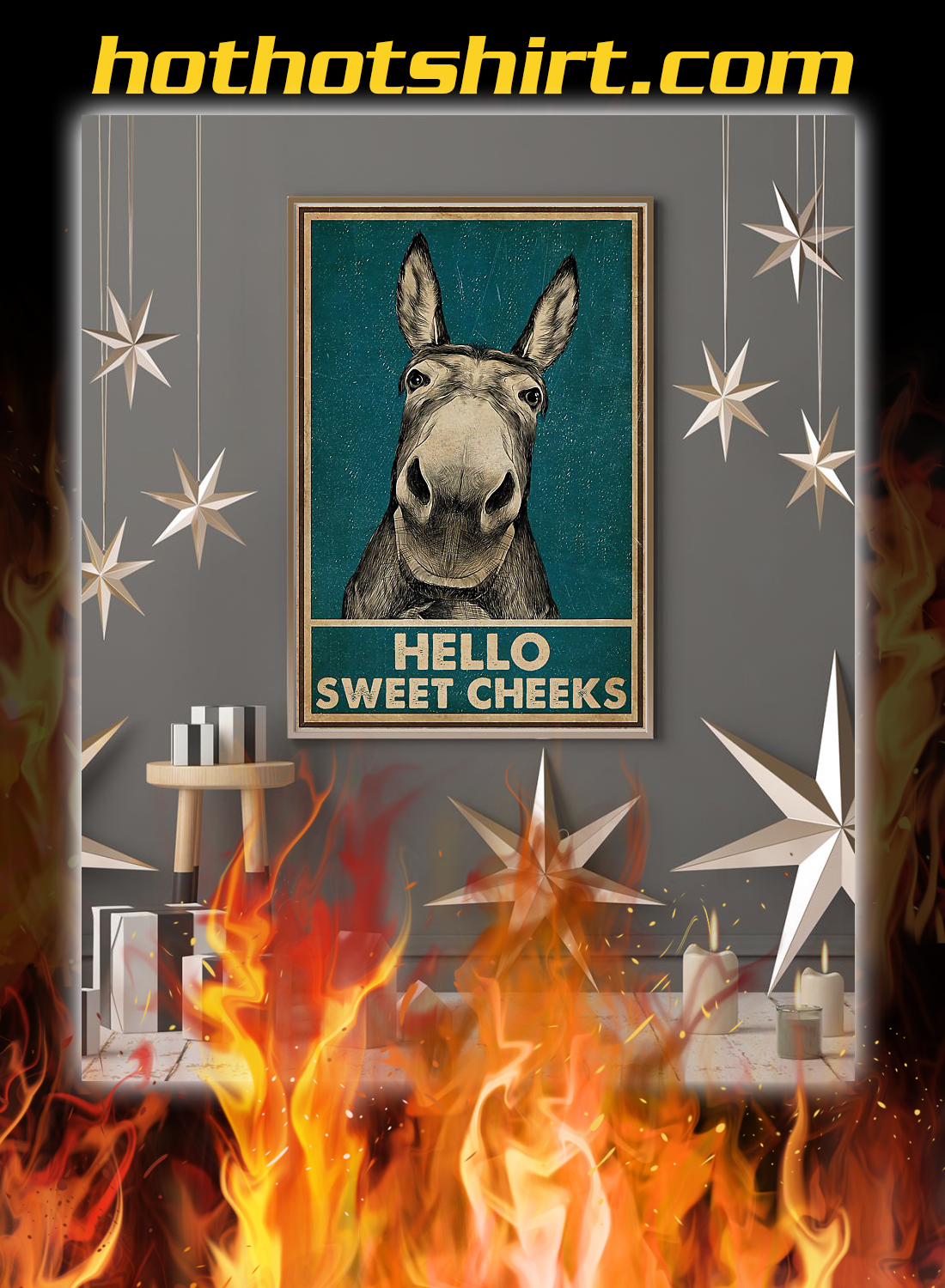 Hello sweet cheeks donkey poster 3