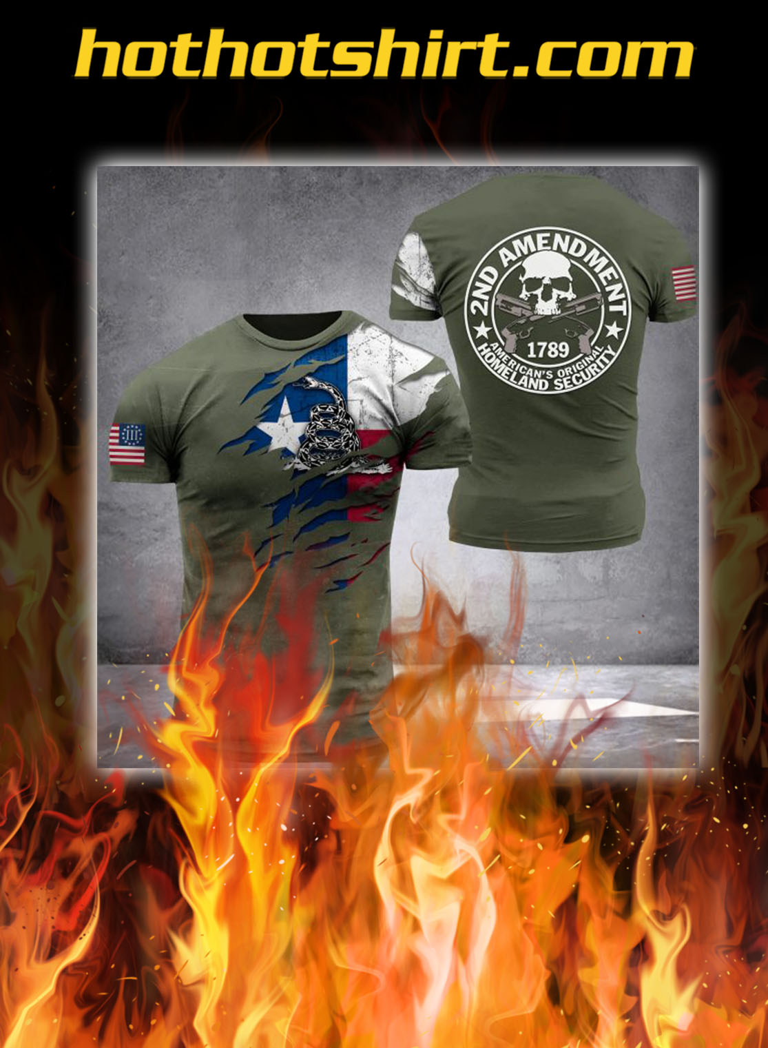 Homeland Security all over printed 3d t-shirt - S