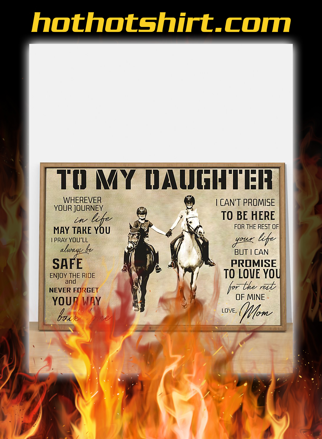 Horse mom to my daughter poster 2