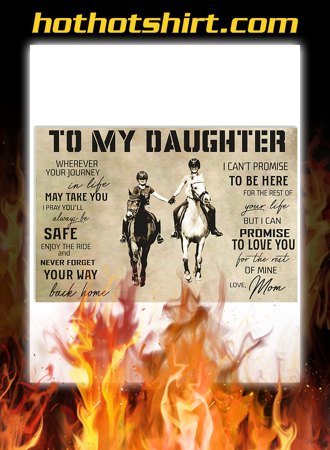 Horse Mom To My Daughter Poster