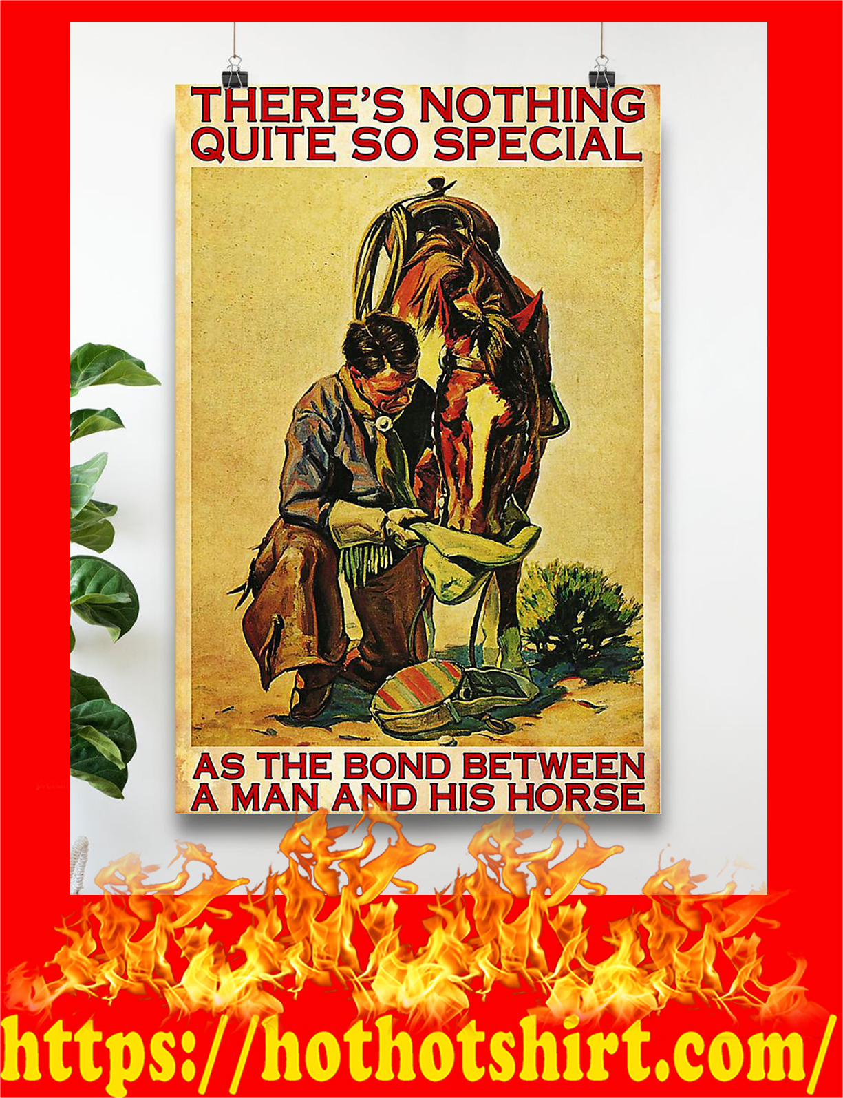 Horse there's nothing quite so special as the bond between a man and his horse poster - Pic 1