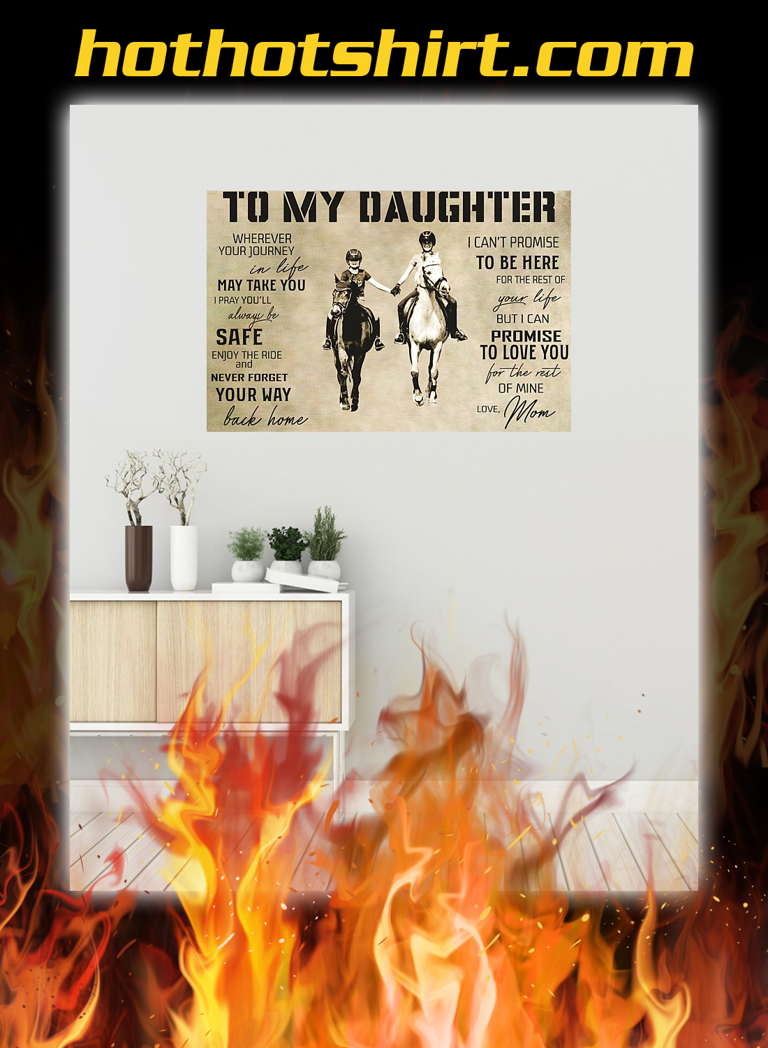 Horse to my daughter love mom poster 1