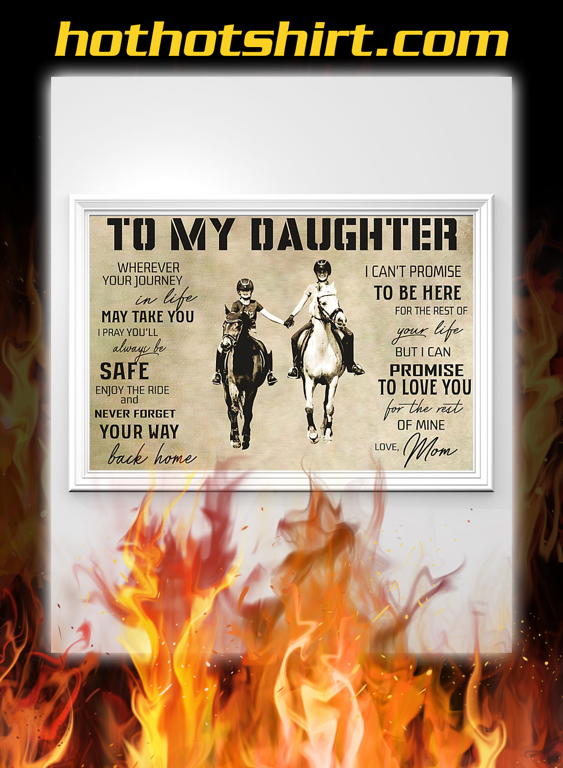 Horse to my daughter love mom poster 2