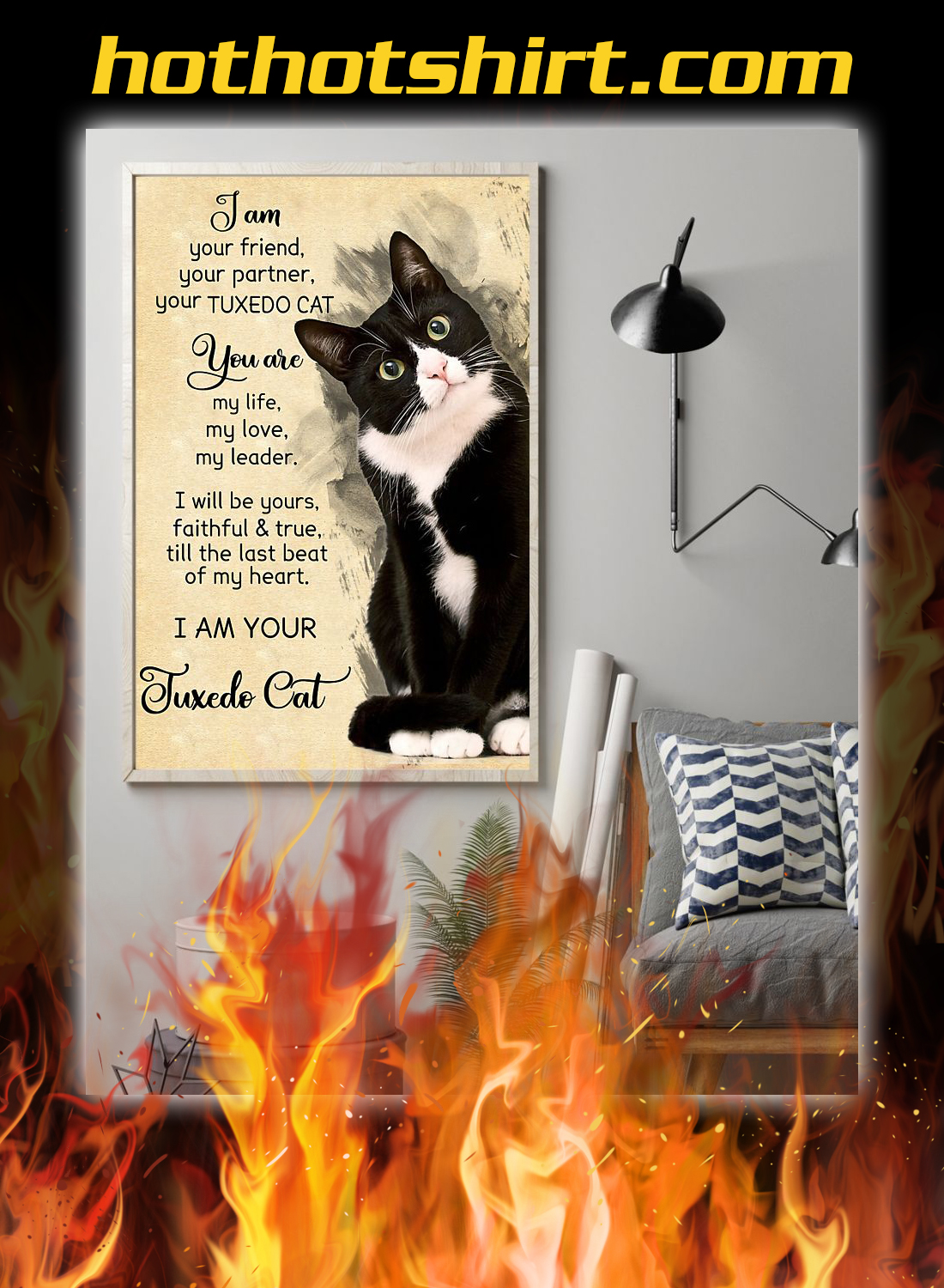 I am your friend your partner your tuxedo cat poster 1