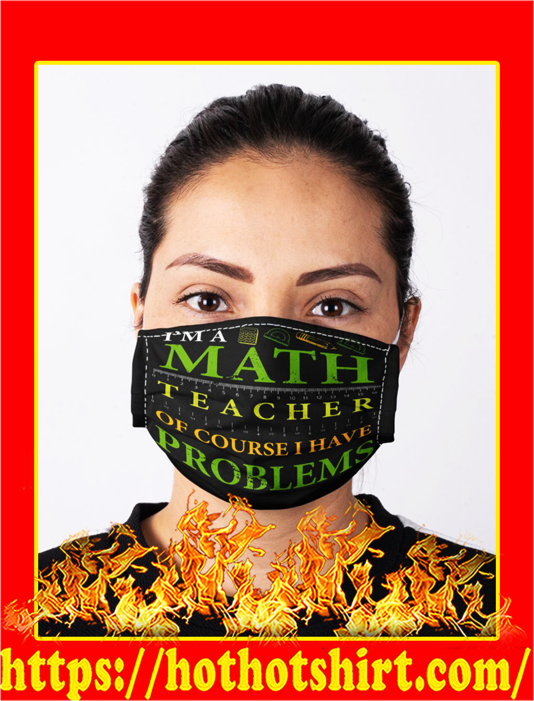 I'm a match teacher of course i have problems face mask- pic 1