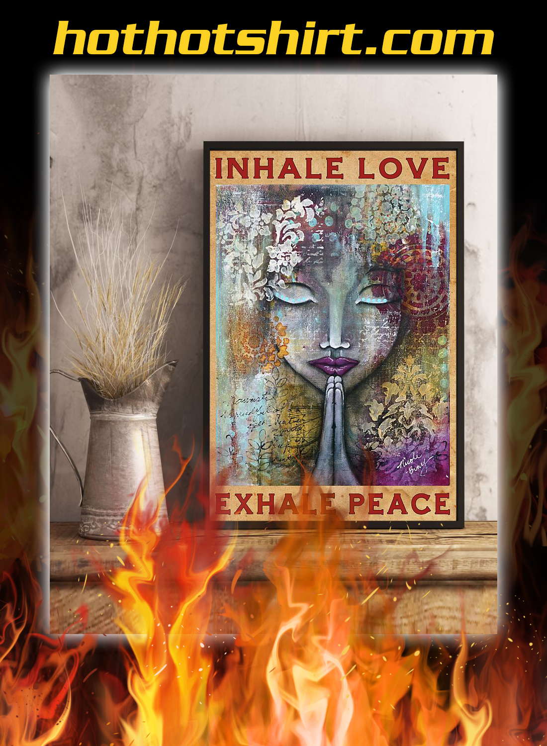 Inhale love exhale peace poster 1