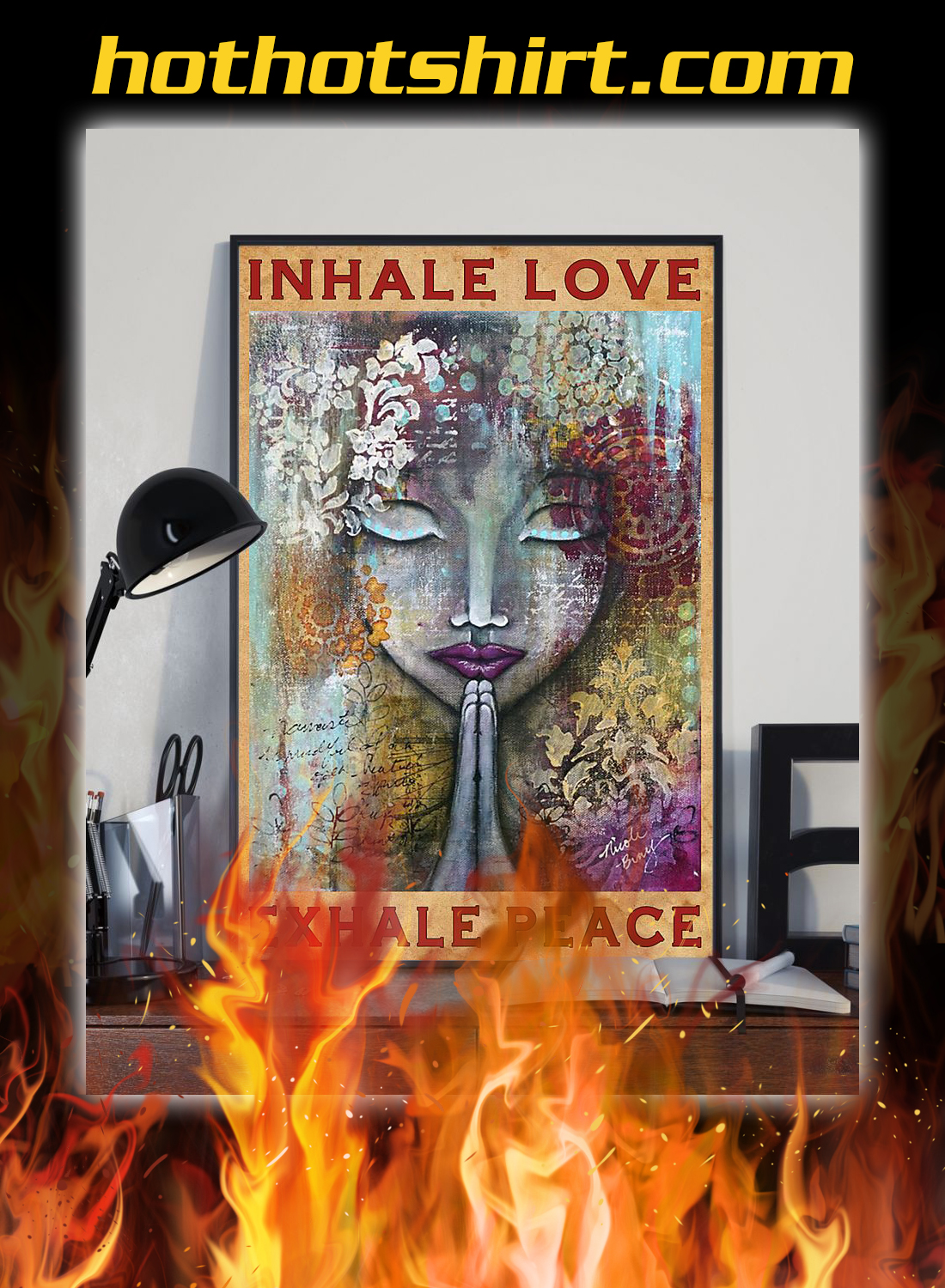 Inhale love exhale peace poster 2