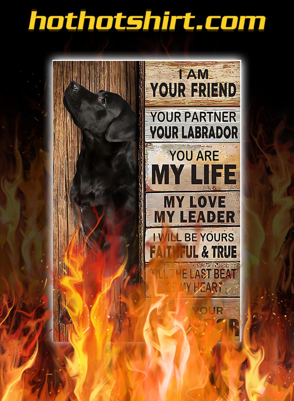 Labrador i am your friend poster - A2