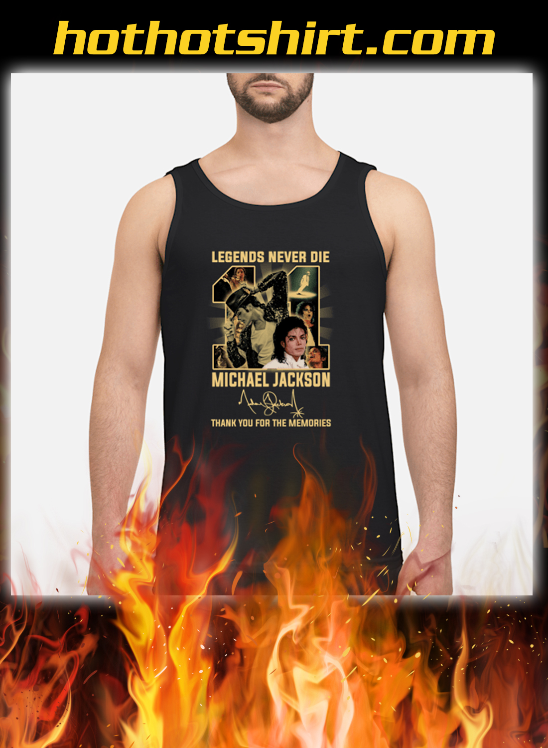 Legends Never Die 11 Michael Jackson Thank You For The Memories Tank Top