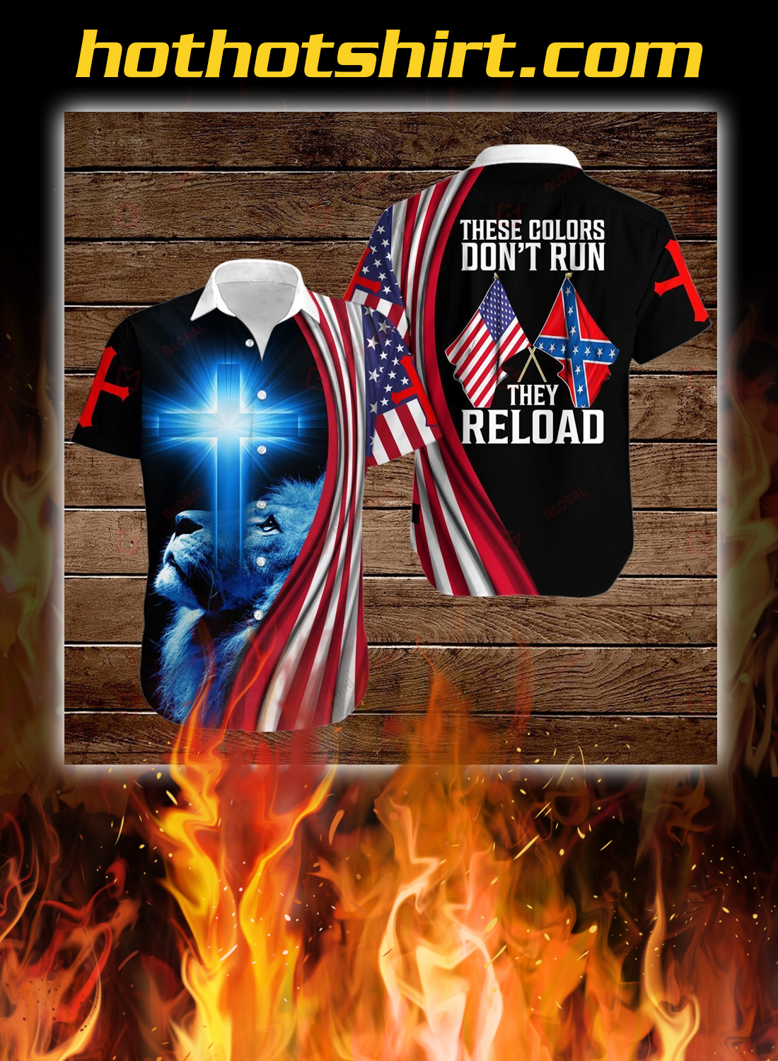 Lion confederate states of america flag these colors don't run they reload all over printed 3d hoodie, t-shirt