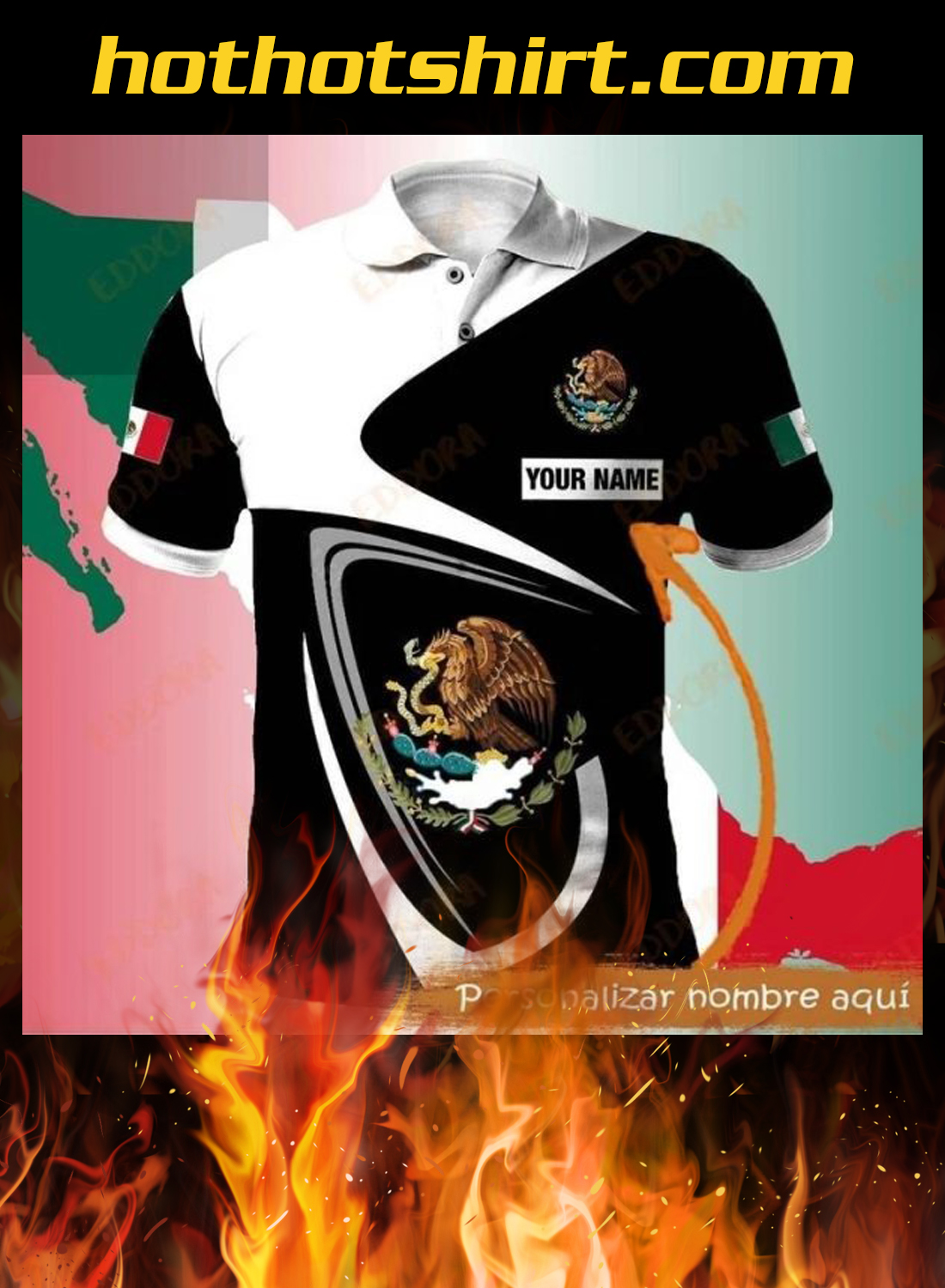Mexico personalize custom name 3d hoodie, shirt 1