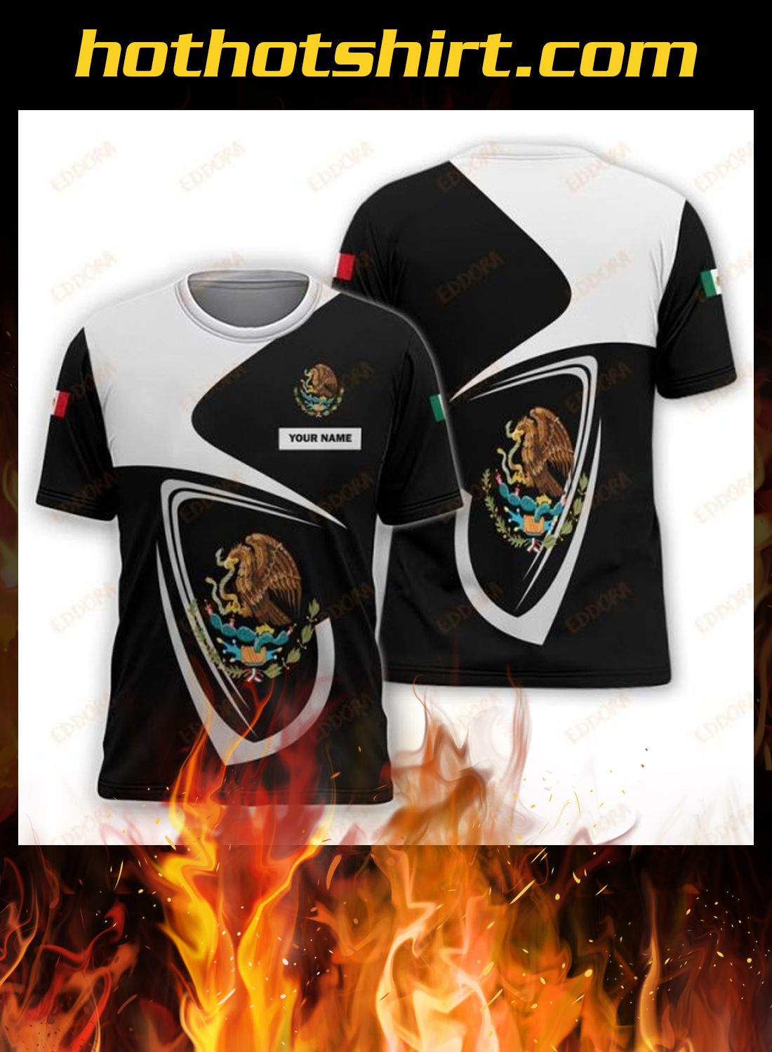 Mexico personalize custom name 3d hoodie, shirt 3