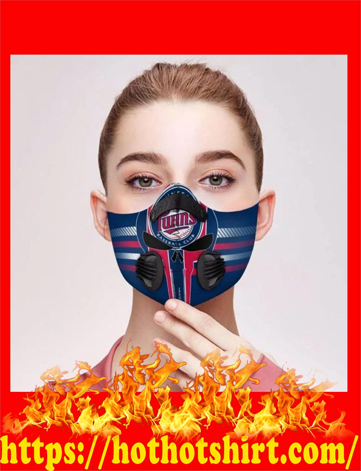 Minnesota twins punisher skull filter face mask - detail