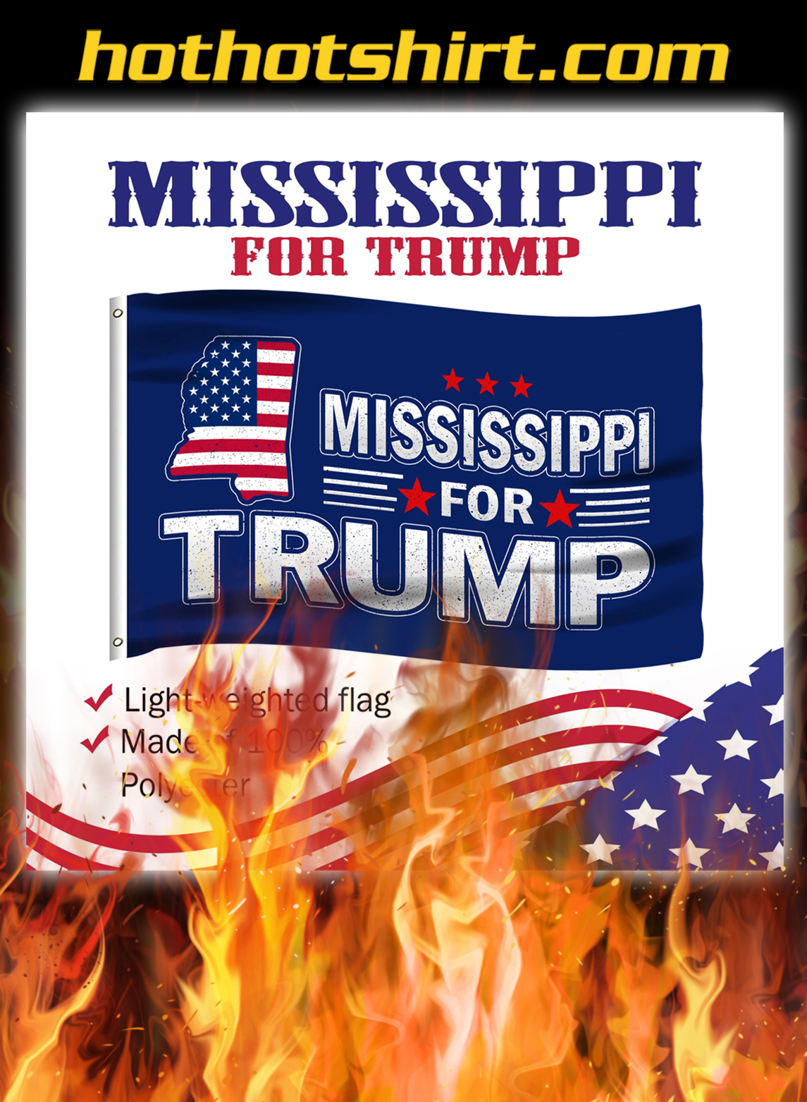 Mississippi For Trump Flag- pic 1