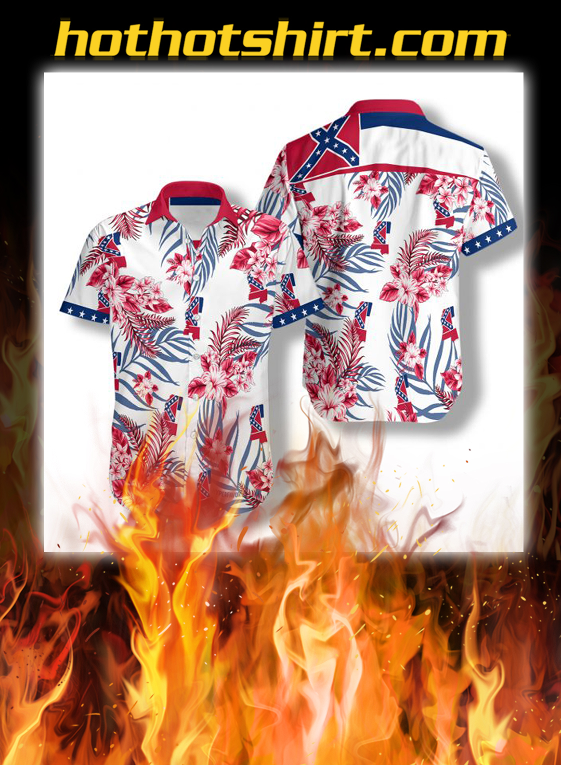 Mississippi proud hawaiian shirt - S
