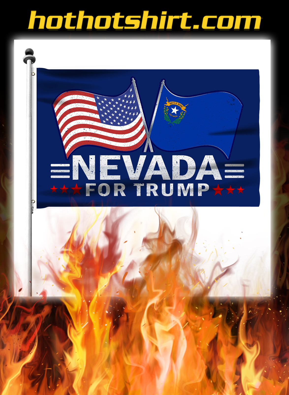 Nevada For Trump Flag- pic 2